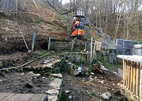 Umbau der Stützmauer